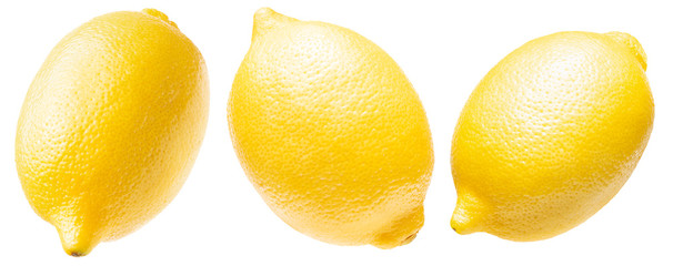collection of lemon isolated on a white background
