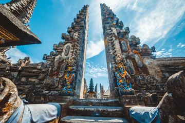 A beautiful view of Ulun Danu Batur temple in Bali, Indonesia