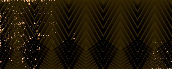 Merry Christmas gold frame vector elegant on dar banner design of sparkling lights
