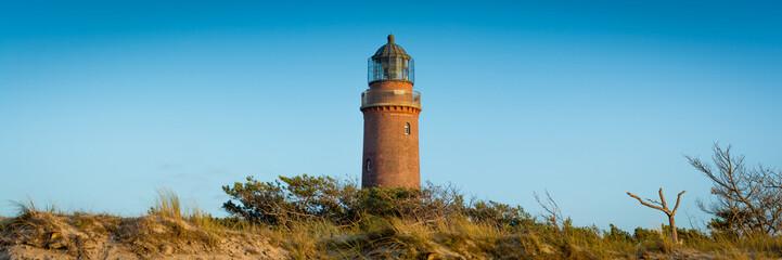 Leuchtturm auf Fischland Darss Zingst an der Ostsee - Panorama