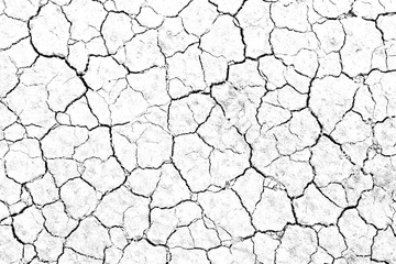 Texture soil dry crack background pattern of drought lack of water of nature white black old broken.