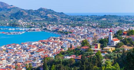 Panoramic summer landscape of Zakynthos