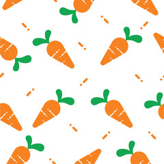 carrot seamless pattern cute background vector