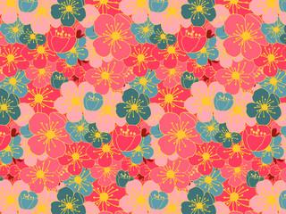 full of plum flower pattern