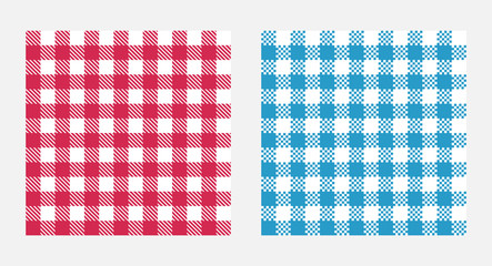 Checkered tablecloth seamless pattern, table cloth texture design