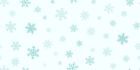 Vector snowflakes background. Simple Christmas and New Year seamless pattern