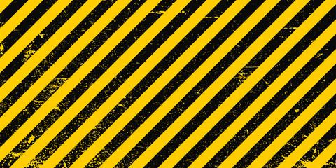 Industrial background warning frame grunge yellow black diagonal stripes, vector grunge texture warn caution, construction, safety background