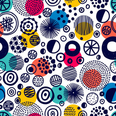 Seamless pattern, polka dot fabric, wallpaper, vector. Cheerful polka dot vector seamless pattern. Can be used in textile industry, paper, background, scrapbooking.