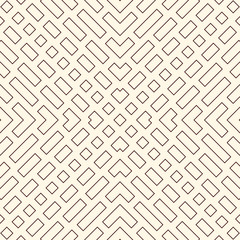 Diagonal dashed lines abstract background. Outline seamless pattern with geometric motif. Simple symmetric ornament.