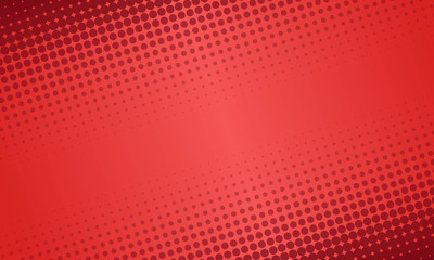 Red abstract geometric halftone circle pattern background