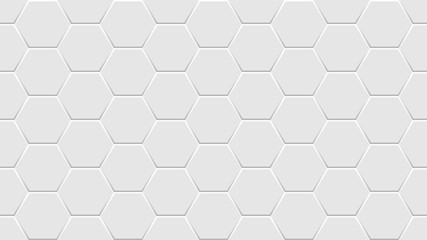 White Hexagon brick wall background. Abstract geometric Seamless pattern. Vector illustration. eps 10