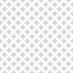 Subtle vector seamless pattern with small diamond shapes, stars. White and gray
