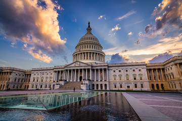 Storm rising over United States Capitol Building, Washington DC