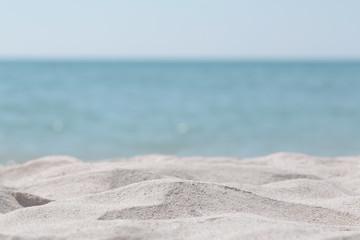 Piękne wydmy na tle morza niewyraźne. Natura na zewnątrz