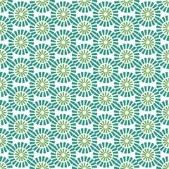 Green azulejos vector tiles , Portuguese seamless pattern.