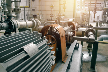 Electric motor casing in industrial plant