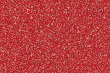 Beautiful Xmas texture with decorations. Christmas wallpaper concept. Vector