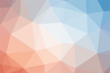 Multicolor polygon pattern. Low poly design