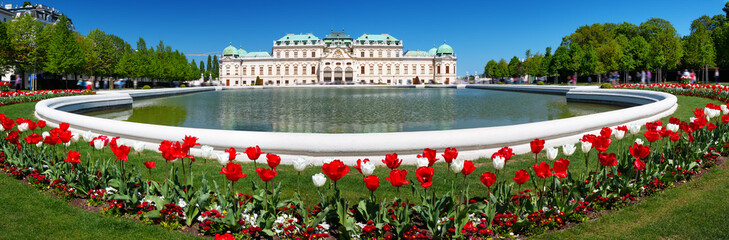 View to Volksgarten and National History Museum in Vienna