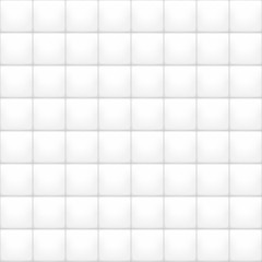 Vector white and gray ceramic tile pattern. Kitchen and bathroom wall texture. Abstract seamless geometric shapes structure. Mesh and gradient colors