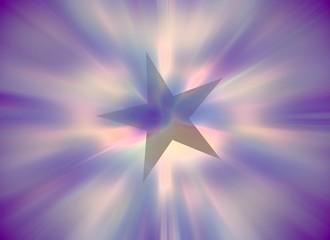 pastelowa fioletowa kryształowa przezroczysta gwiazdka bożonarodzeniowa