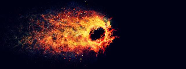 流動的な火の輪