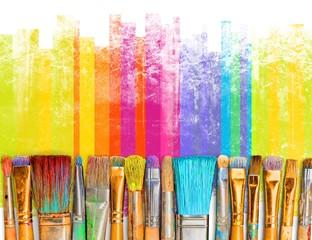 Pędzel sztuka farba kreatywność rzemiosło tła wystawa
