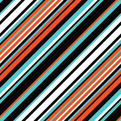 Seamless pattern with oblique colored lines