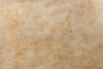 Aged old worn out light brown beige orange blank parchment background texture.Ancient antique rustic grungy retro manuscript scroll template watercolor fresco paper.Marble tile fresco stone structure.