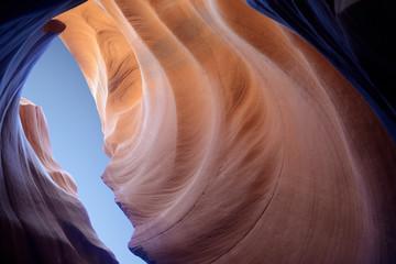 Antelope slot canyon looking into the skies