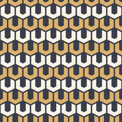 Abstract geometric seamless pattern. Repeating geometric tiles of hexagonal elements.