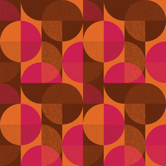 Abstract round shape seamless pattern