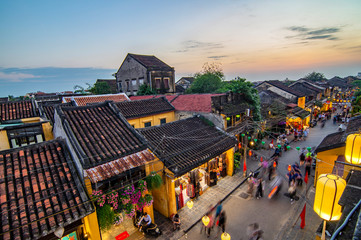 Hoi An ancient town which is a very famous destination for tourists.