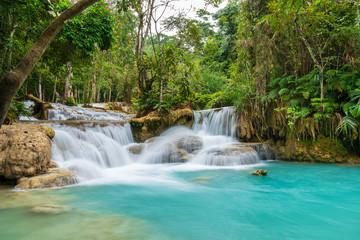 Kuang Si Waterfall in Luang prabang, Laos.