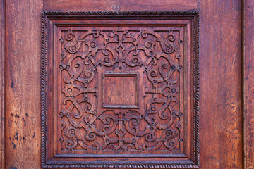 background of old grunge, medieval wooden texture. part of antique old door