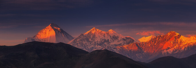 Sunrise on Dhaulagiri, Nepal