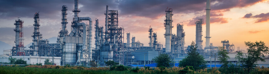 Petrochemical industry with Twilight sky.