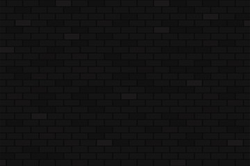Black brick wall background. Beautiful black brick wall vector For neon night party.