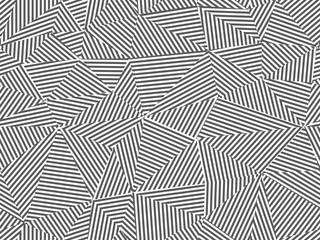 Abstract striped seamless background. Black and white design - triangle creative textile endless texture. Fashion polygon repeatable pattern