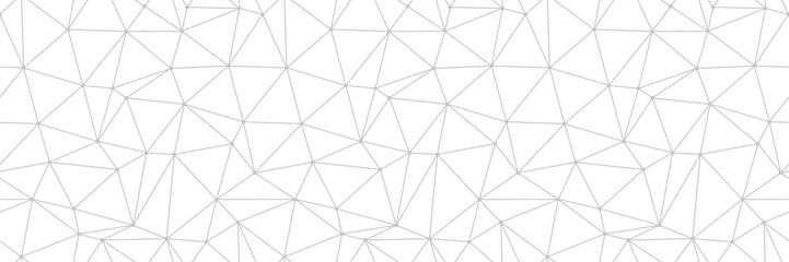 Geometric print. Gray pattern on long white seamless background
