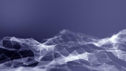 Abstract digital landscape. Big data conceptual background