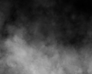 black and white fog and smoke and mist effect on black background and Isolated white fog on the black background
