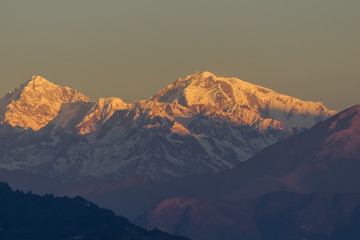 Himalayan sunrise mountain views in Nepal