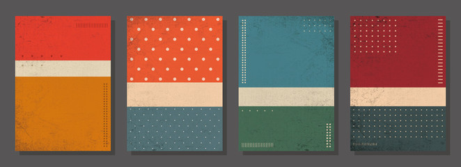 Set of retro covers. Cover templates in vintage design. Abstract vector background template for your design. Retro design templates set  for brochures, posters, flyers, banners, covers, placards.