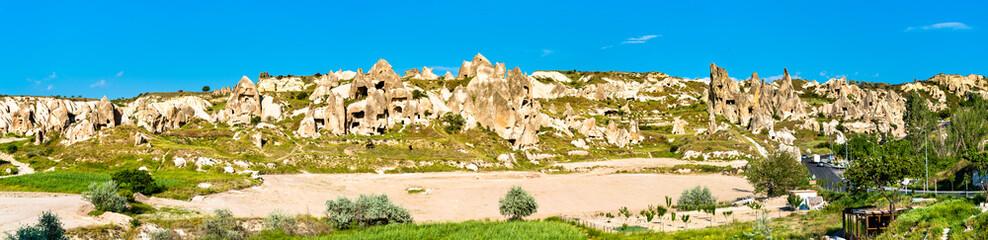 Panorama of Goreme National Park in Cappadocia, Turkey