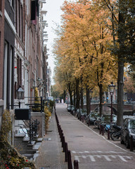 Strolling around the narrow streets of Amsterdam, admiring the impressive architecture, on a cold Autumn afternoon.