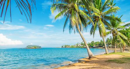 Sri Lanka, ocean, Beruwala beach. Selective focus.