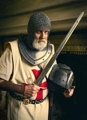 Crusader with helmet