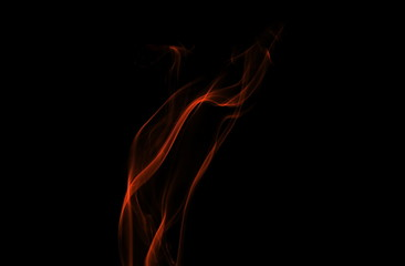 Fire flames isolated on black background and texture, clipping path