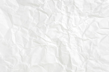Paper texture Crumpled White.Top view.